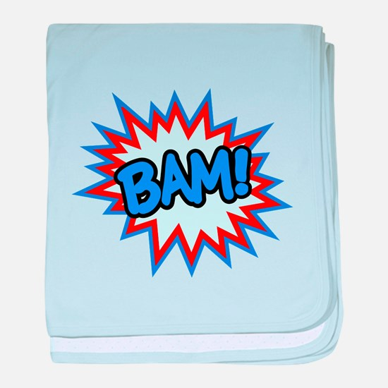 Hero Bam Bursts baby blanket