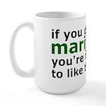 Marijuana Is Part Of The Future Large Mug