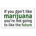 Marijuana Is Part Of The Future Sticker (Rectangle