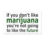 Marijuana Is Part Of The Future Rectangle Car Magn