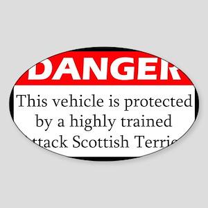 Attack Scottish Terrier Sticker