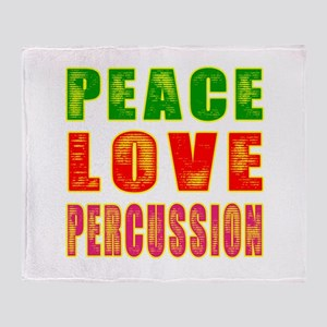 Peace Love percussion Throw Blanket