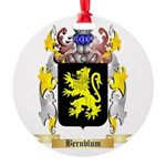 Bernblum Round Ornament