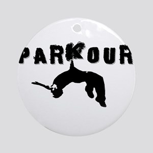 Parkour Athlete Ornament (Round)