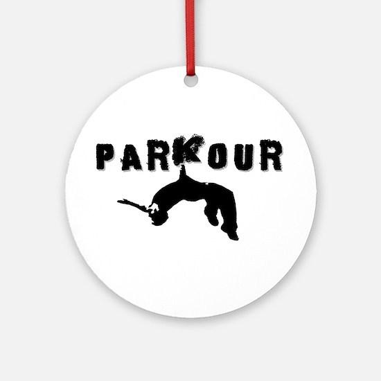 Parkour Athlete Ornament (Round)