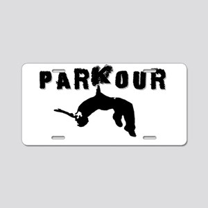 Parkour Athlete Aluminum License Plate