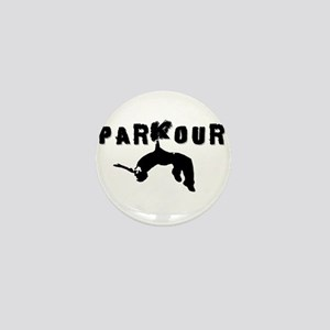 Parkour Athlete Mini Button