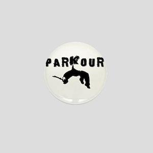 Parkour Athlete Mini Button