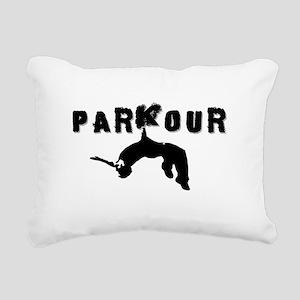 Parkour Athlete Rectangular Canvas Pillow