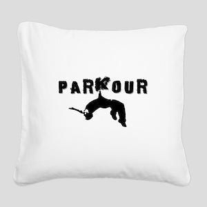 Parkour Athlete Square Canvas Pillow