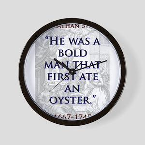 He Was A Bold Man - J Swift Wall Clock