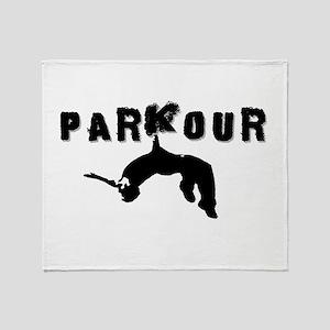Parkour Athlete Throw Blanket