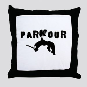 Parkour Athlete Throw Pillow