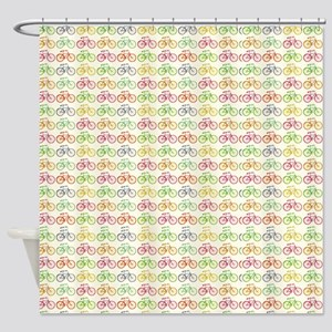 Colorful Bicycles Shower Curtain