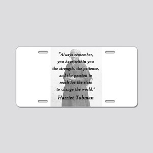 Tubman - Within You Aluminum License Plate