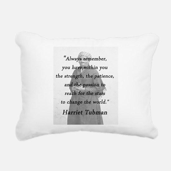 Tubman - Within You Rectangular Canvas Pillow