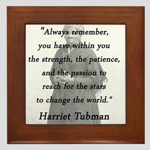 Tubman - Within You Framed Tile