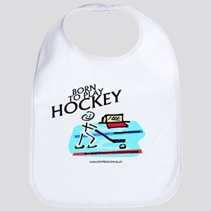 Born To Play Hockey Bib