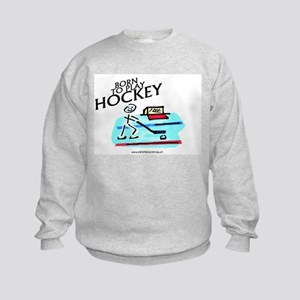Born To Play Hockey Kids Sweatshirt