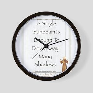 Saint Pope Francis Simple Prayer Wall Clock