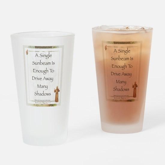 Saint Pope Francis Simple Prayer Drinking Glass