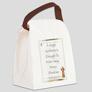 Saint Pope Francis Simple Prayer Canvas Lunch Bag