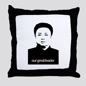 Kim Jong Il Throw Pillow