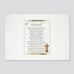 Saint Pope Francis Simple Prayer 5'x7'Area Rug