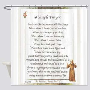 Saint Pope Francis Simple Prayer Shower Curtain