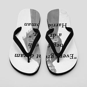 428a2c6f143f Harriet Tubman Quote Flip Flops - CafePress
