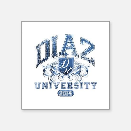 Diaz Last Name University Class of 2014 Sticker