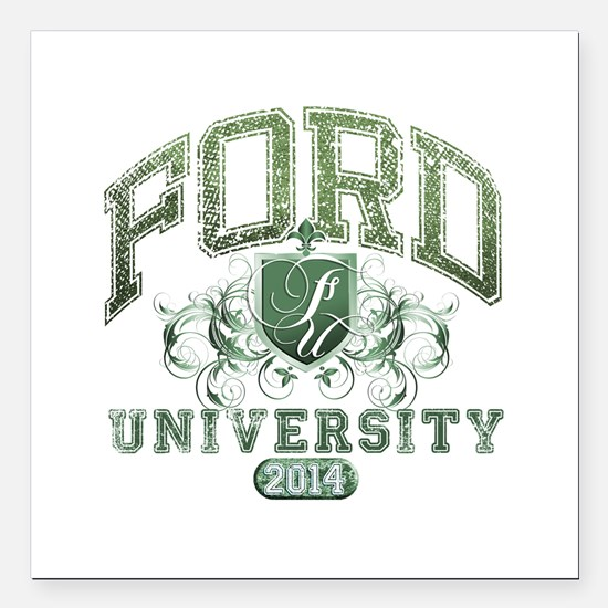 Ford Last name University Class of 2014 Square Car