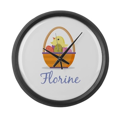 Easter Basket Florine Large Wall Clock