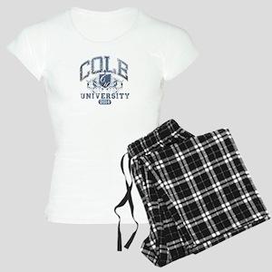 Cole Last Name University Class of 2014 Pajamas