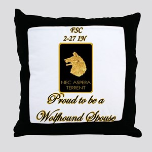 Proud Wolfhound Spouse Throw Pillow