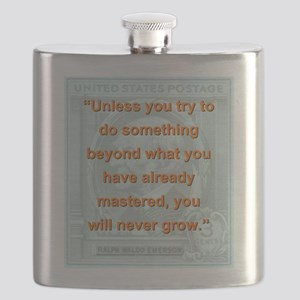 Unless You Try To Do Something - RW Emerson Flask