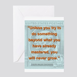 Unless You Try To Do Something - RW Emerson Greeti