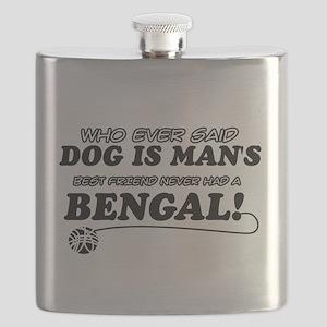 Bengal Cat designs Flask