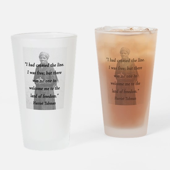 Tubman - Crossed the Line Drinking Glass