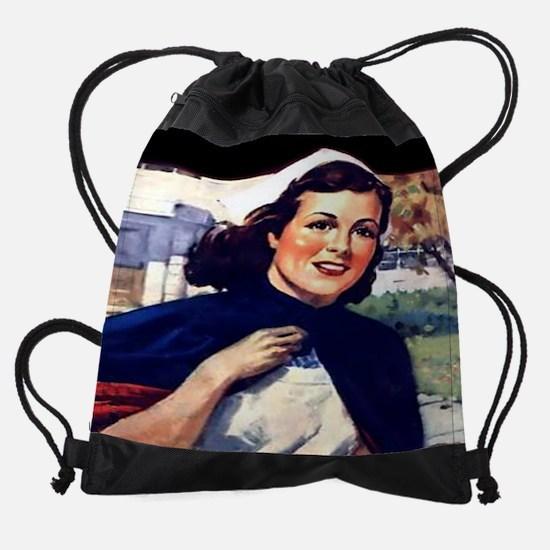 Senior cal 05.jpg Drawstring Bag
