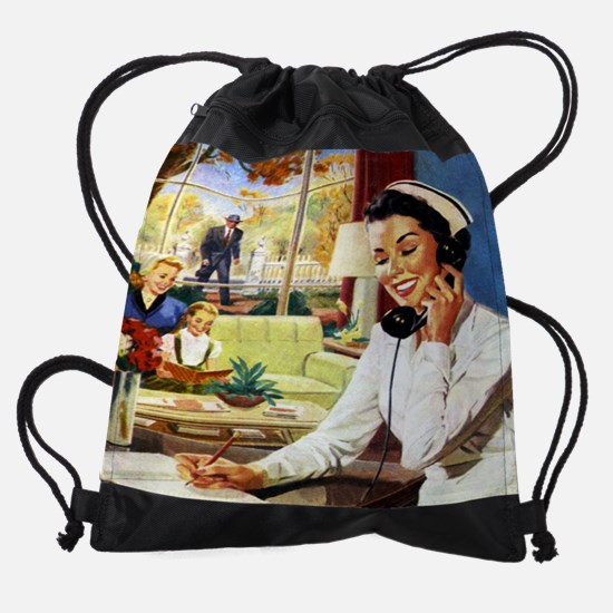 doctornurse cal 05.jpg Drawstring Bag
