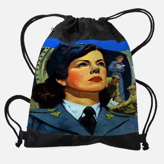 nurseflight cal 05.jpg Drawstring Bag
