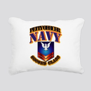 NAVY - PO2 Rectangular Canvas Pillow