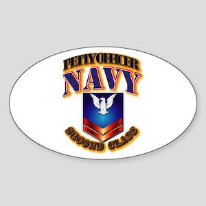 NAVY - PO2 Sticker (Oval)