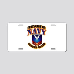 NAVY - PO2 Aluminum License Plate