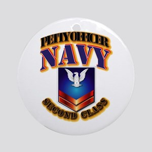 NAVY - PO2 Ornament (Round)