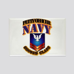 NAVY - PO2 Rectangle Magnet