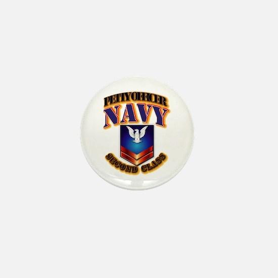 NAVY - PO2 Mini Button