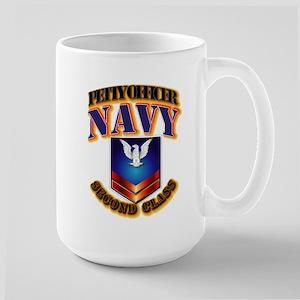 NAVY - PO2 Large Mug