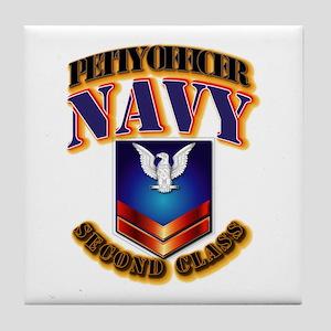 NAVY - PO2 Tile Coaster